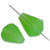 Fire polished 16x12mm Drop Green Opal Natural Strung